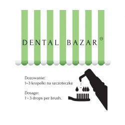 dozowanie kropelek stomatologicznych Dental Bazar D'Essence Tea Tree, dosage Dental Drops Tea Tree